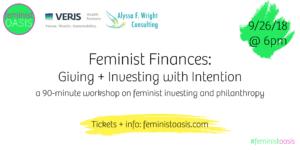 Feminist Finances Philanthropy Investing Gender Lens