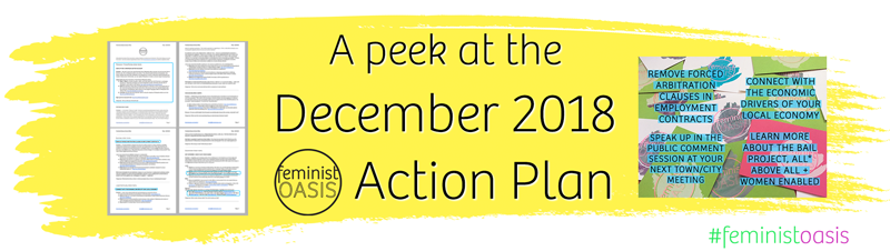 A peek at the December 2018 Feminist Oasis Action Plan